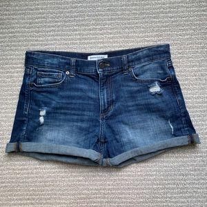 Banana Republic distressed denim shorts